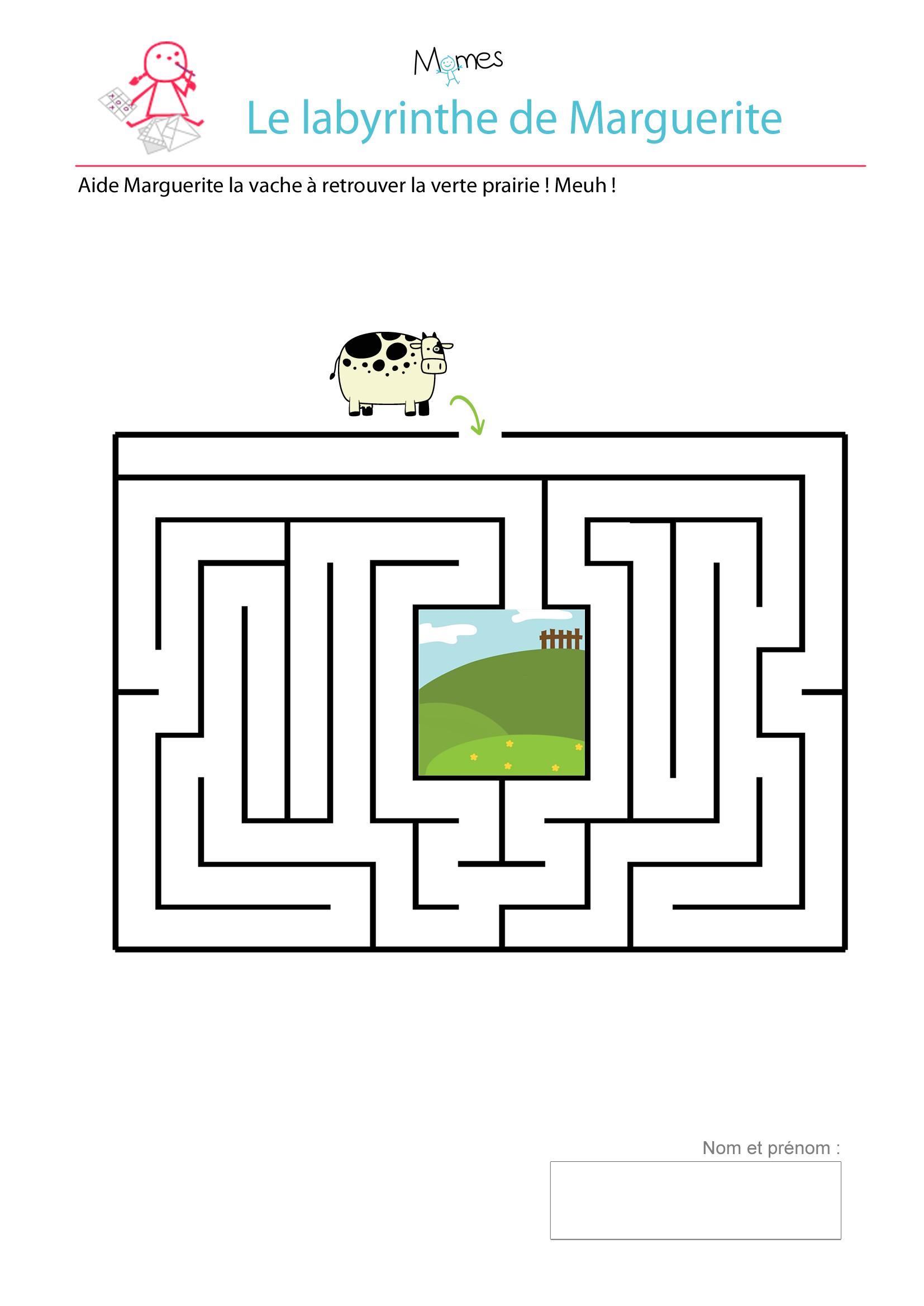 Le Labyrinthe De Marguerite - Momes destiné Labyrinthe A Imprimer