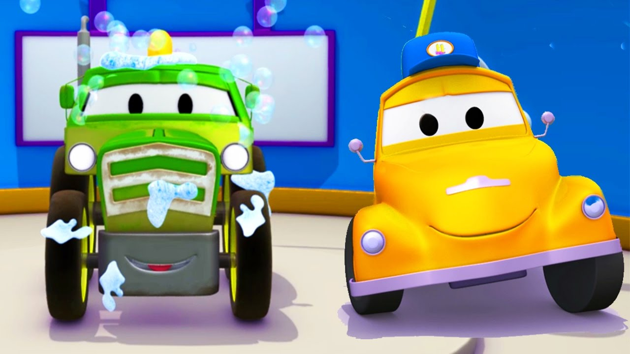 Le Lavage Auto De Tom La Depanneuse Et Ben Le Tracteur | Dessins Animes  Pour Les Enfants dedans Sam Le Tracteur Dessin Anime