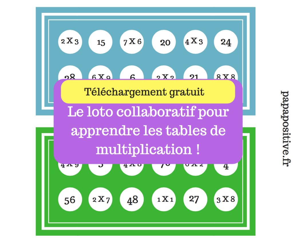 Le Loto Collaboratif Des Multiplications (Téléchargement dedans Tables De Multiplication Jeux À Imprimer