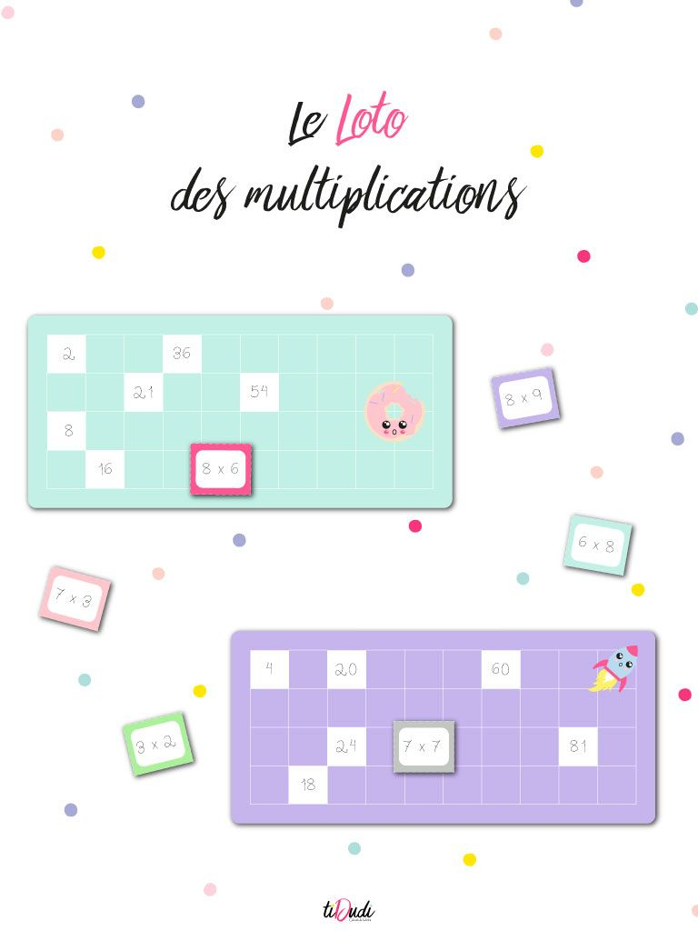 Le Loto Des Multiplications : Un Jeu De Tables De concernant Tables De Multiplication Jeux À Imprimer