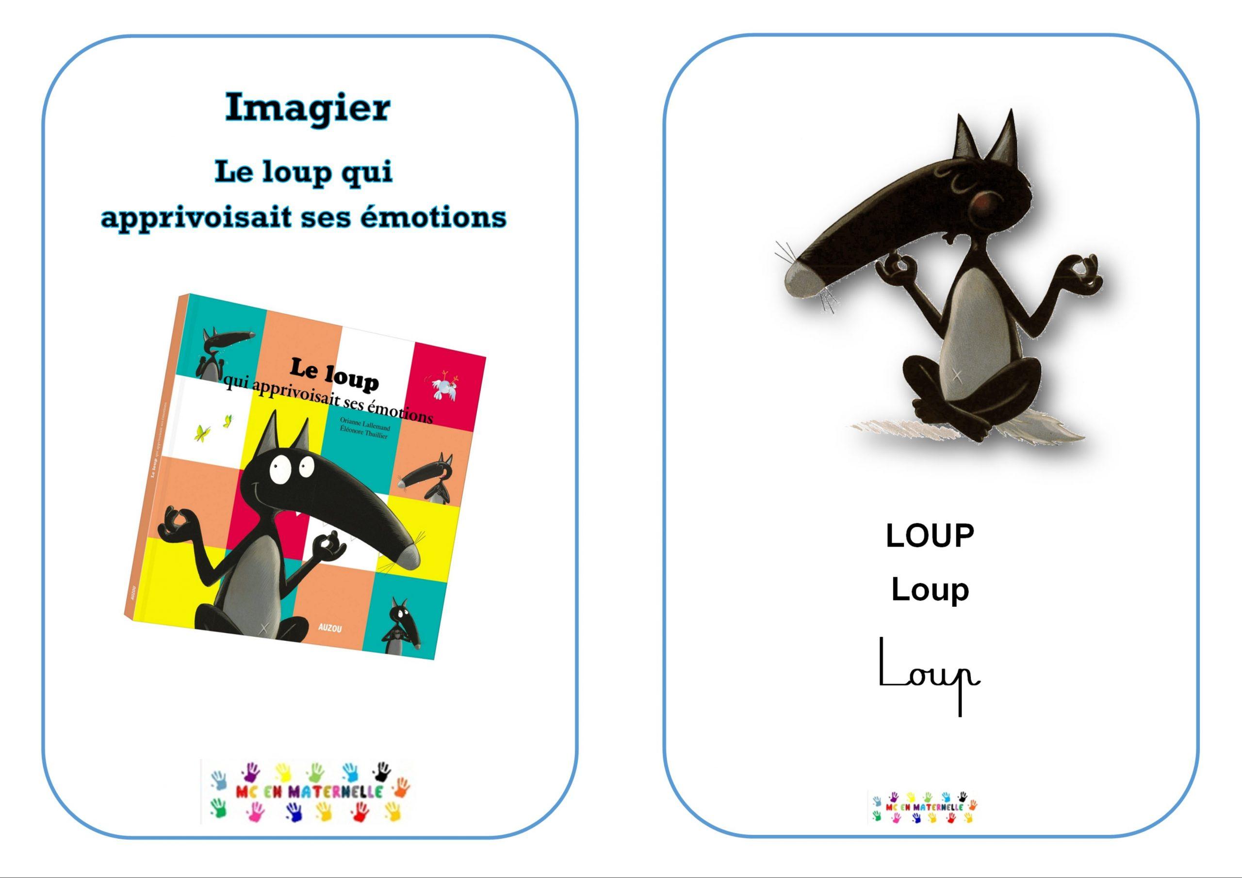 Le Loup Qui Apprivoisait Ses Émotions : Imagier – Mc En intérieur Imagier Noel Maternelle