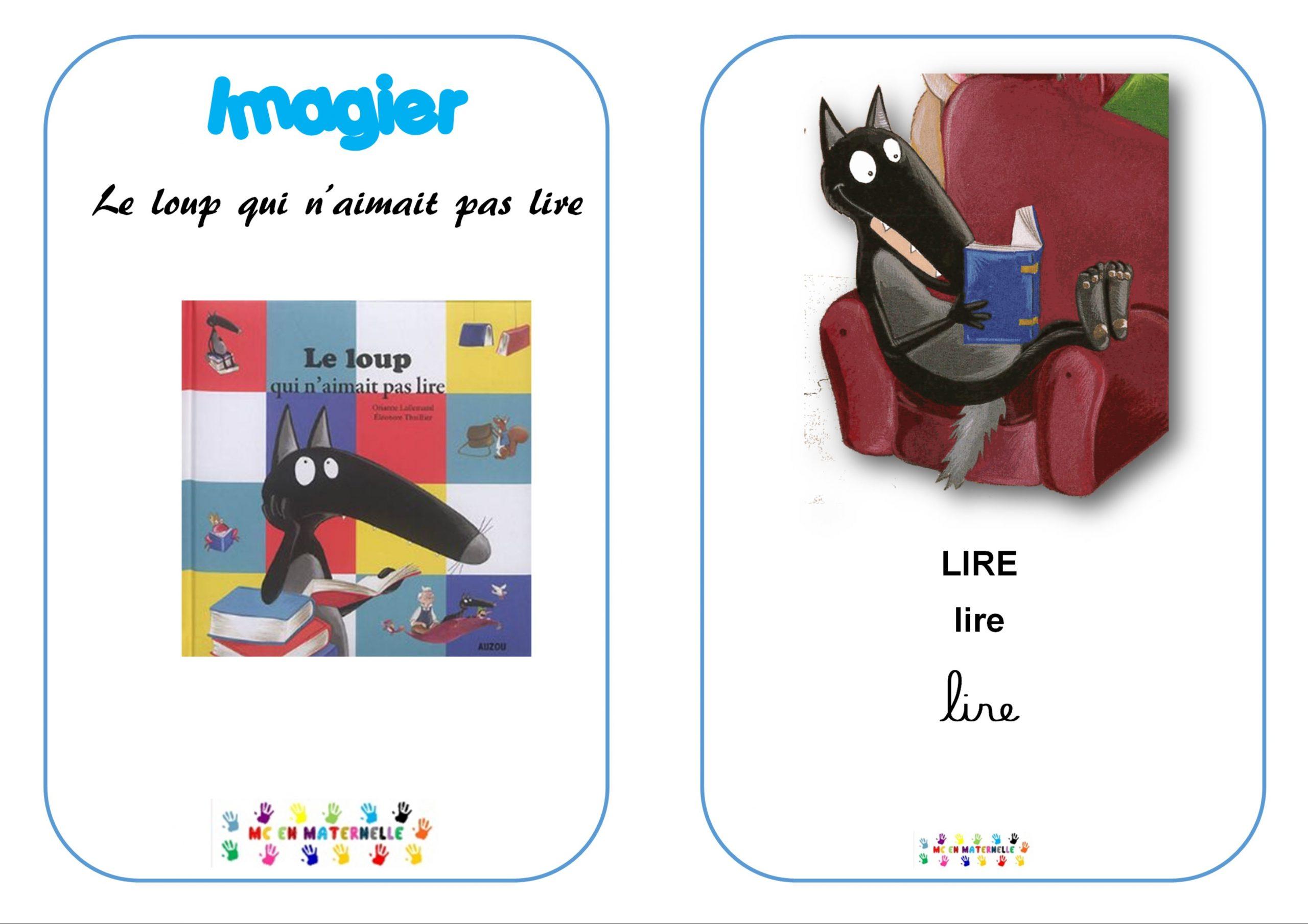 Le Loup Qui N'aimait Pas Lire : Imagier – Mc En Maternelle intérieur Imagier Noel Maternelle
