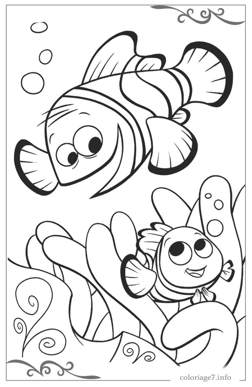 Le Monde De Nemo De Coloriages Pour Filles Gratuits encequiconcerne Tous Les Coloriages Du Monde