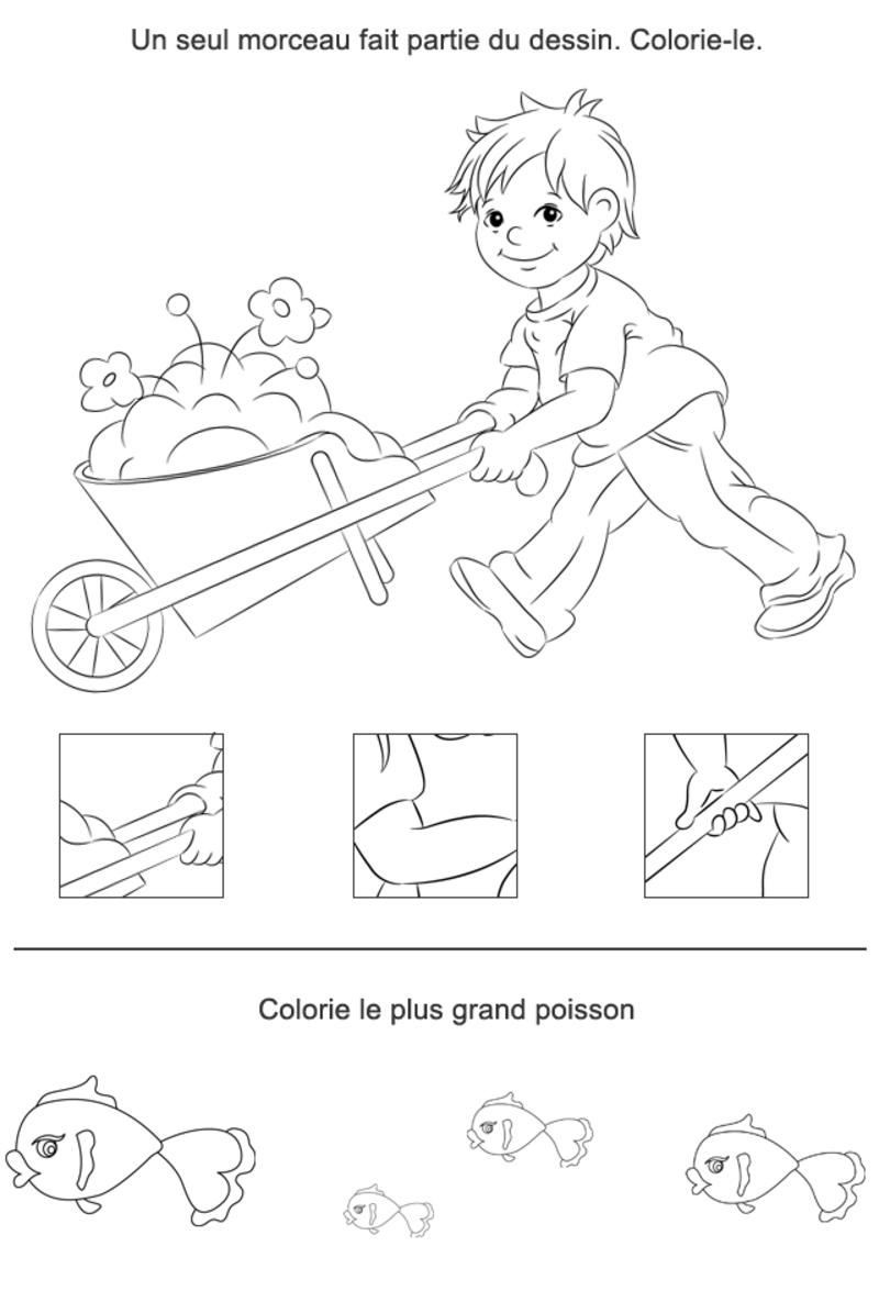 Le Morçeau Manquant | Jeux A Imprimer, Jeux Educatif Pour à Jeux Educatif 4 Ans A Imprimer