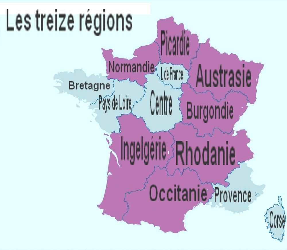 Le Nom Des Treize Régions Futures | Audresselles.at avec Nouvelle Carte Des Régions De France