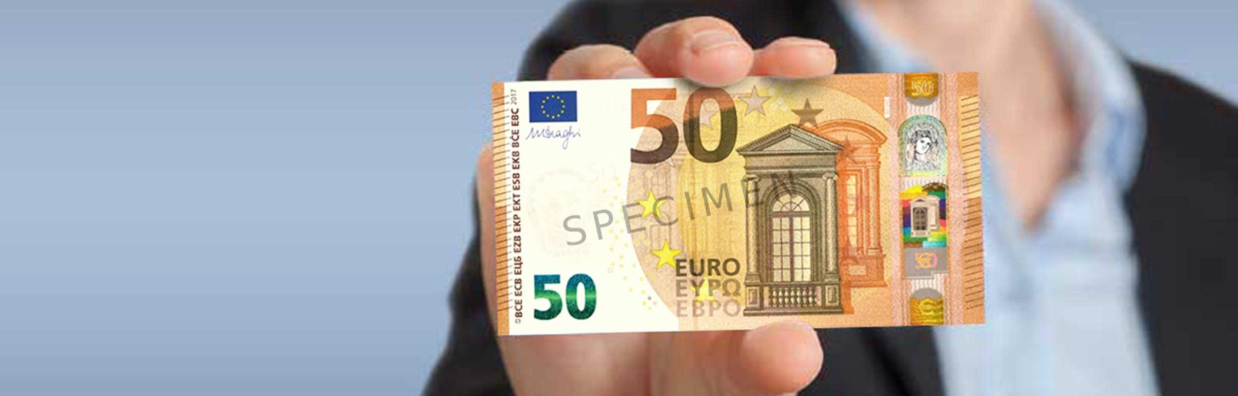 Le Nouveau Billet De 50 Euros Est Arrivé - Dossier | Cic à Billet De 100 Euros À Imprimer