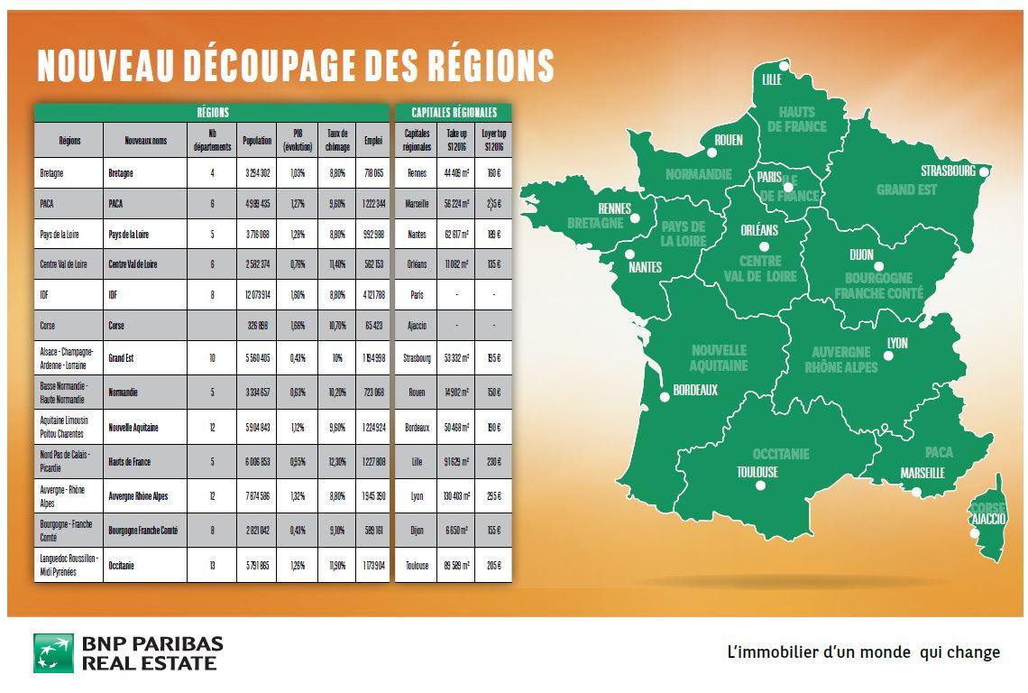 Le Nouveau Découpage Des Régions - Près De Chez Vous destiné Decoupage Region France
