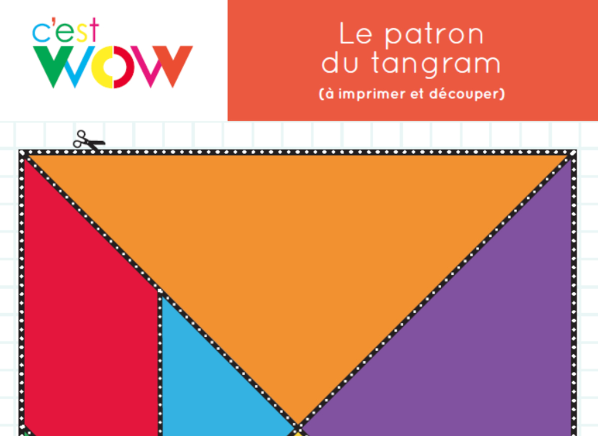 Le Patron Du Tangram - Outil Pédagogique - Mathématiques à Tangram À Découper