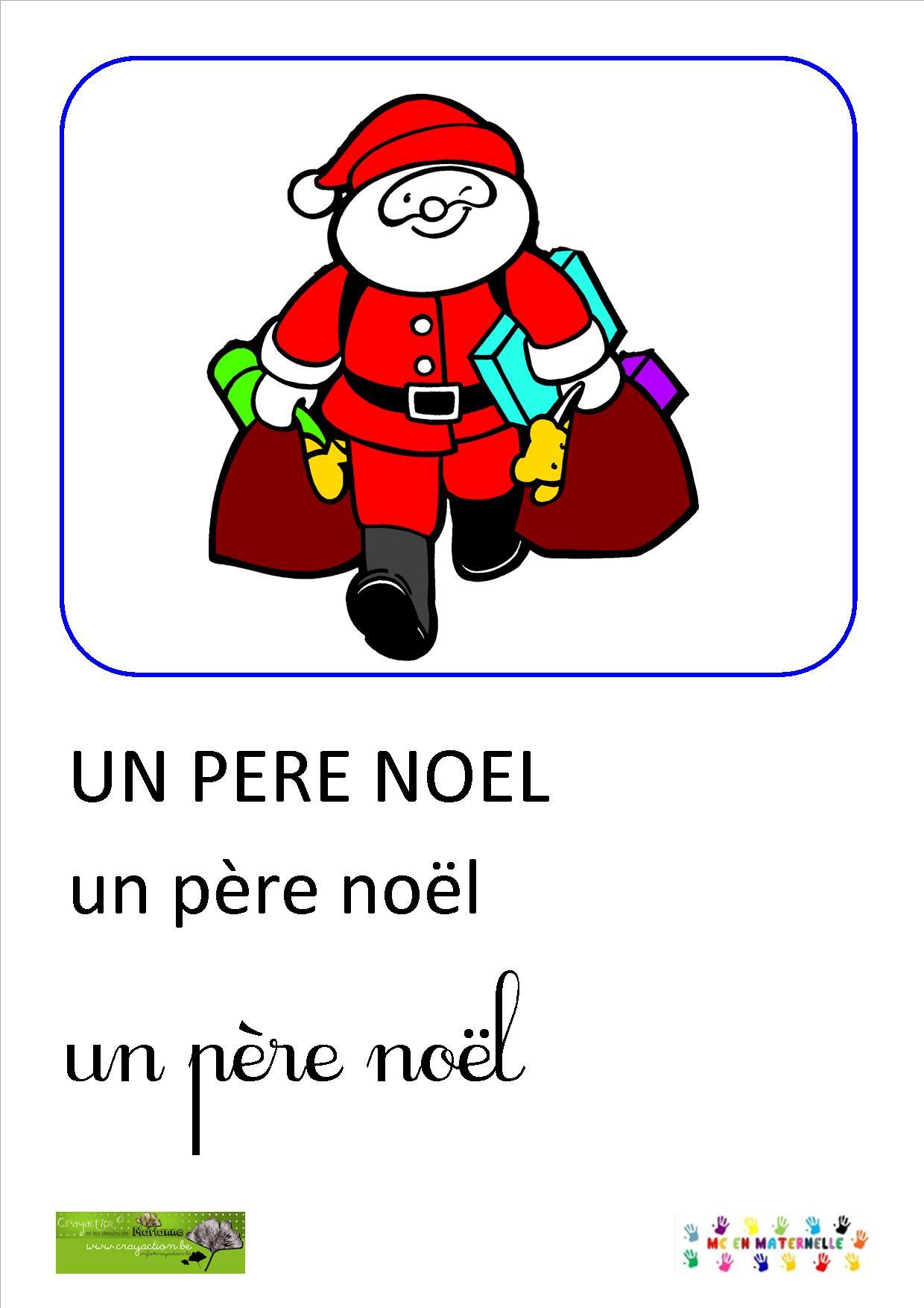 Le Père Ne Sait Pas Dire Non : Imagier De Noël – Mc En pour Imagier Noel Maternelle