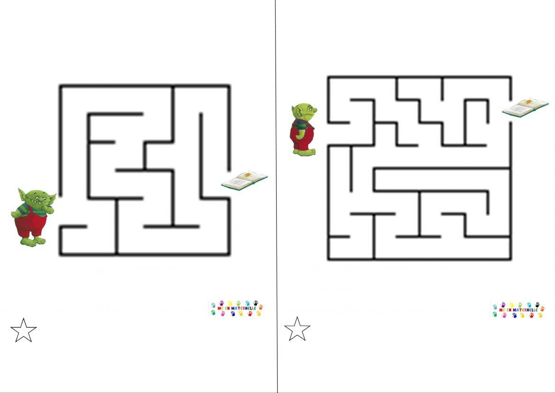 Le Petit Ogre Qui Veut Aller À L'école : Labyrinthes tout Labyrinthe Difficile