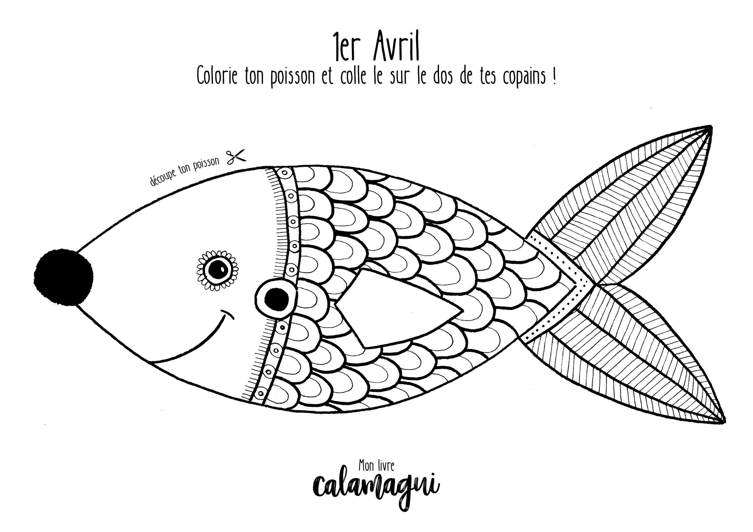 Le Poisson D'avril À Colorier ! tout Coloriage Pantin