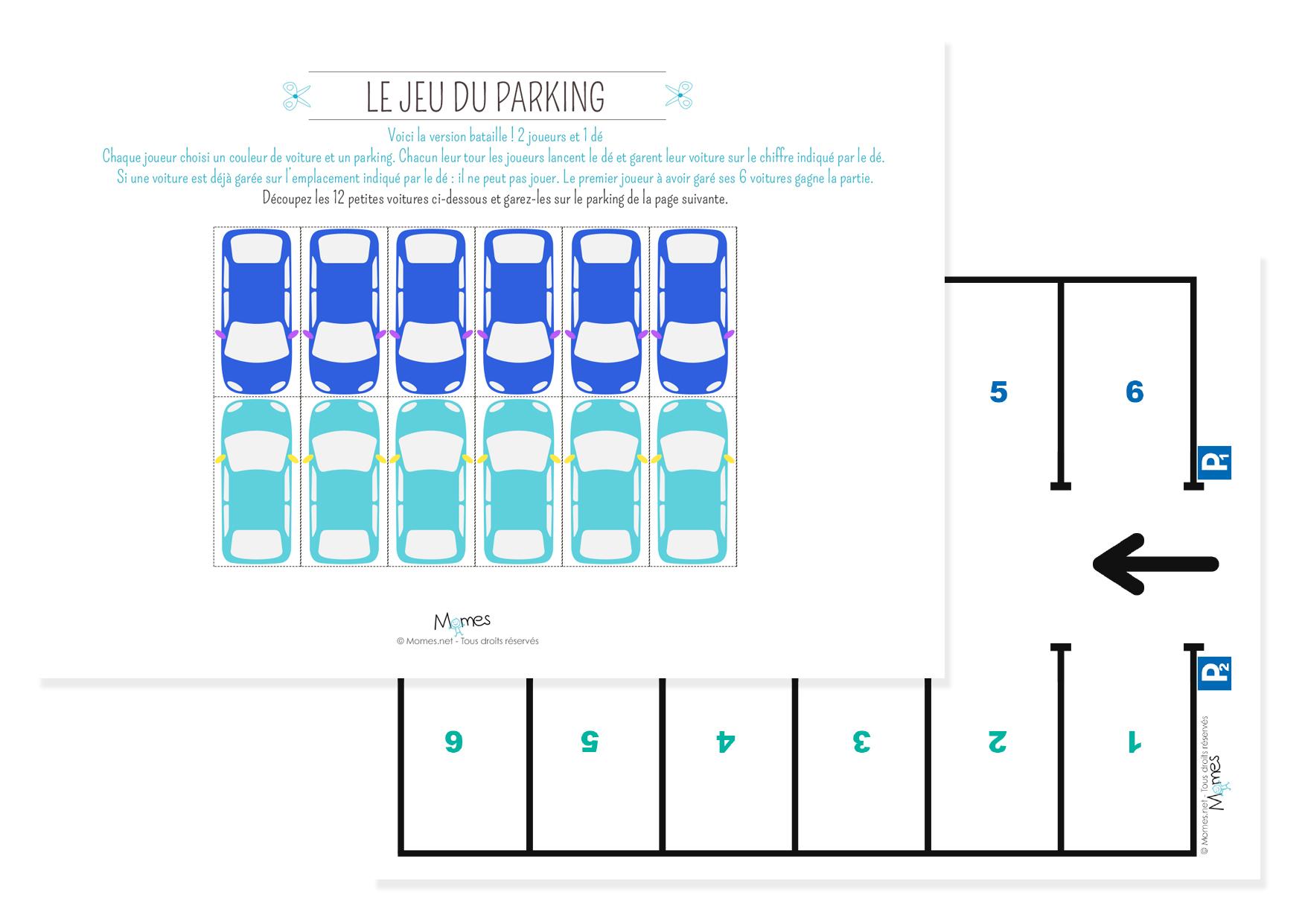 Le P'tit Jeu Du Parking - Momes tout Jeux De Voiture Pour Petit