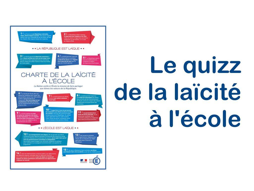 Le Quizz De La Laïcité À L'école - Ppt Télécharger intérieur Quizz Pour Maternelle