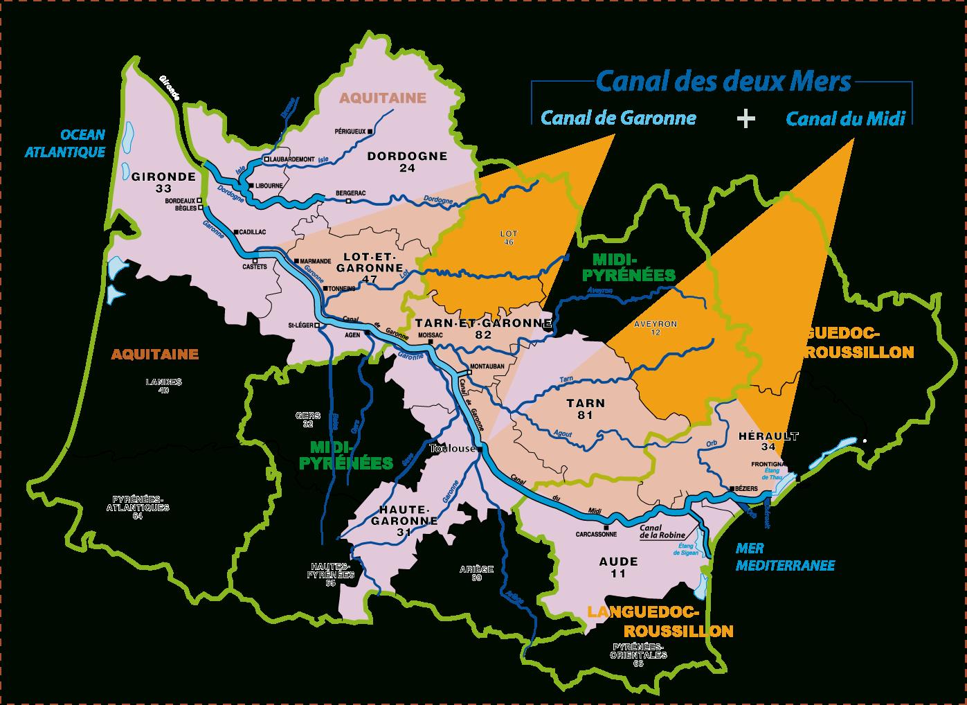 Le Réseau Du Sud-Ouest - Internet De La Direction intérieur Carte Fleuve France