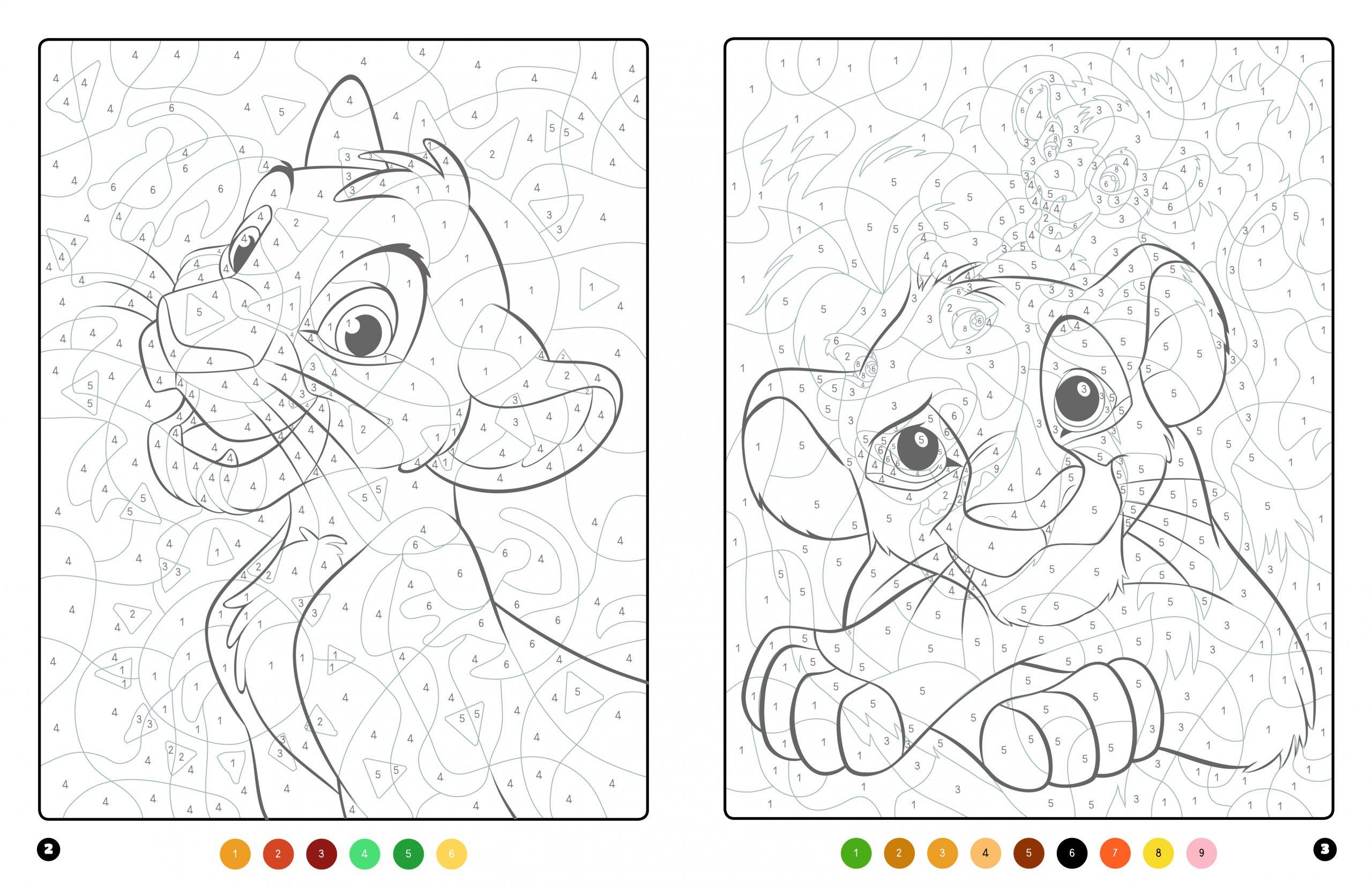 Le Roi Lion - Coloriages Magiques - Trompe-L'oeil - Disney à Coloriage Magique 4 Ans