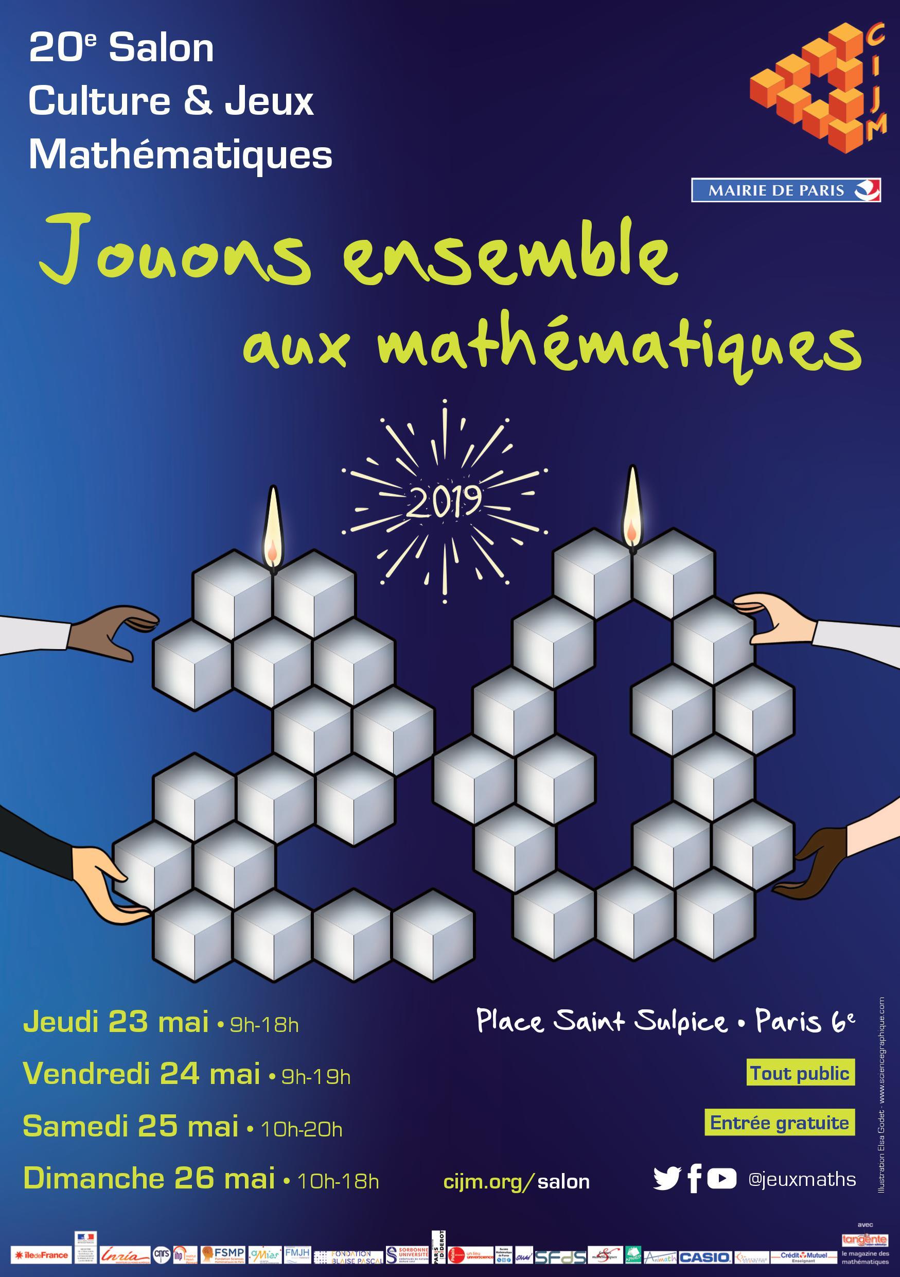 Le Salon Culture Et Jeux Mathématiques, Du 23 Au 26 Mai destiné Jeux De Matematique