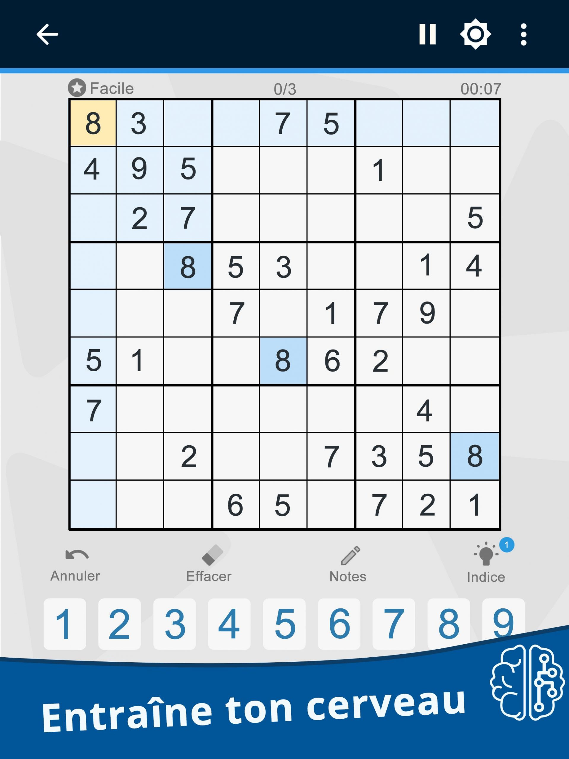 Le Sudoku Est Un Jeu D'énigmes Japonais Pour Android destiné Jeu Le Sudoku