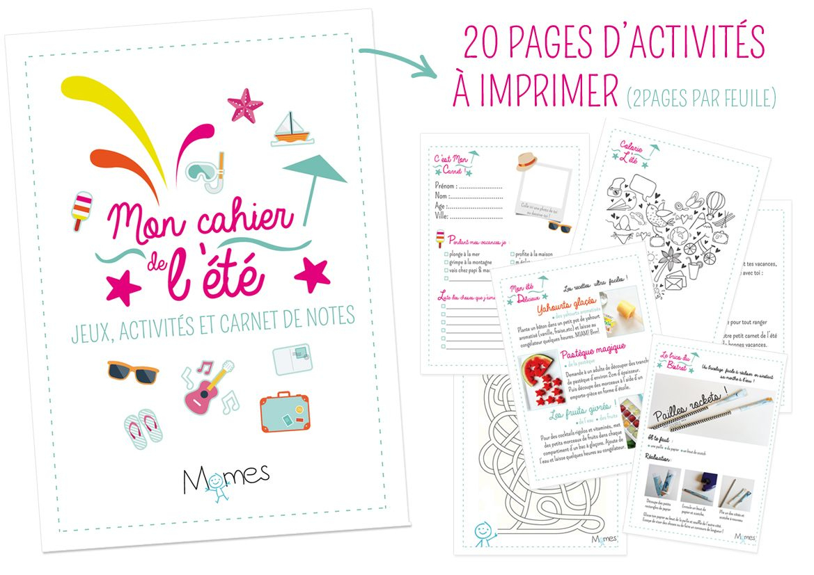 Le Super Cahier Vacances Pour Enfants À Imprimer ! | Cahier pour Cahier De Vacances À Imprimer