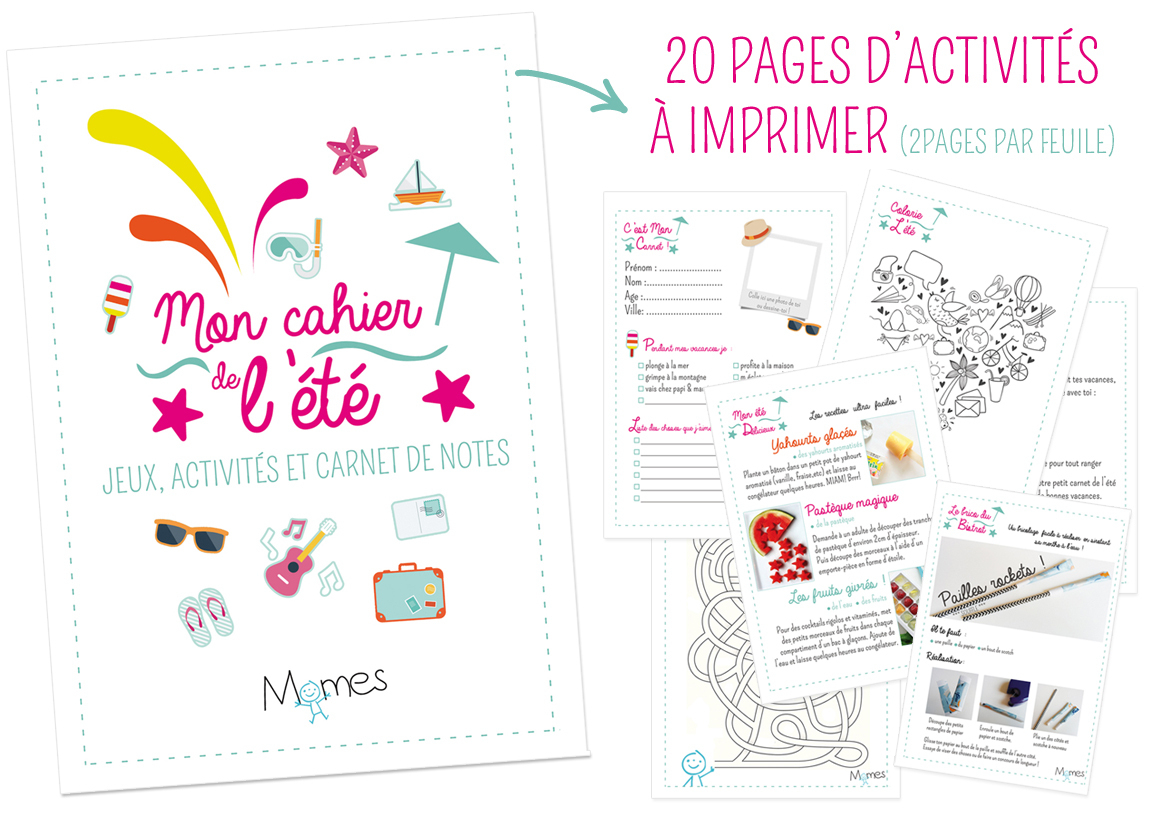 Le Super Cahier Vacances Pour Enfants À Imprimer ! - Momes avec Jeux Educatif Ce1 A Imprimer