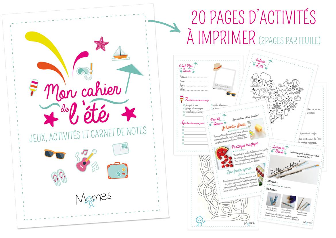 Le Super Cahier Vacances Pour Enfants À Imprimer ! - Momes intérieur Activités Maternelle À Imprimer