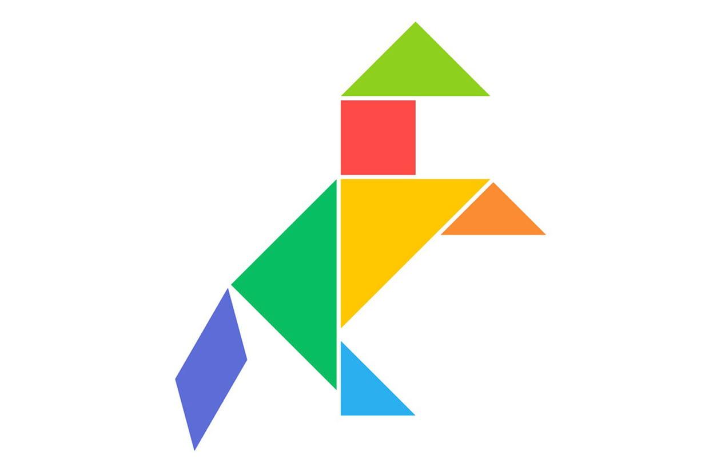 Le Tangram Niveau Facile, Un Cheval intérieur Modèle Tangram À Imprimer