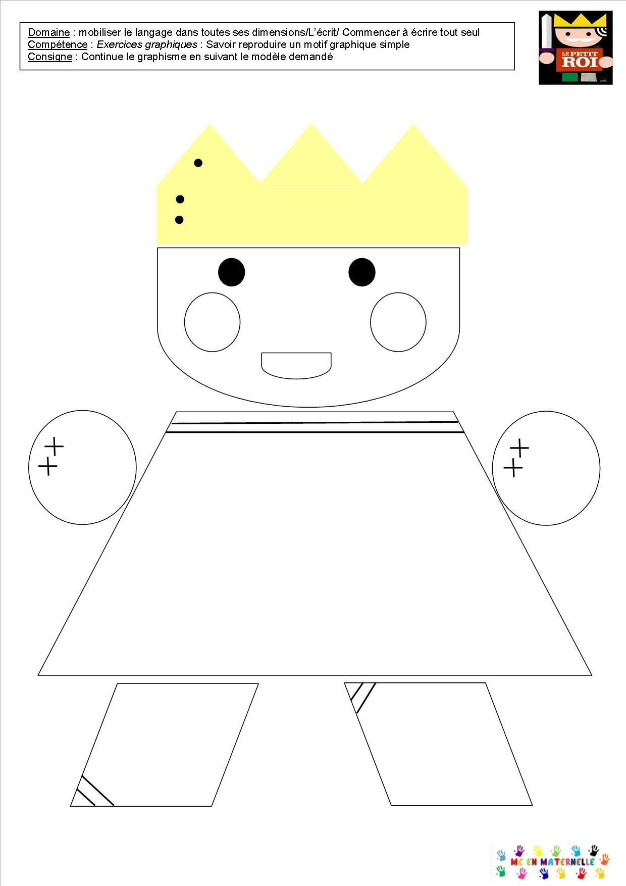 Le Tout Petit Roi – Graphisme Dans Le Roi, La Reine, Le destiné Graphisme En Petite Section