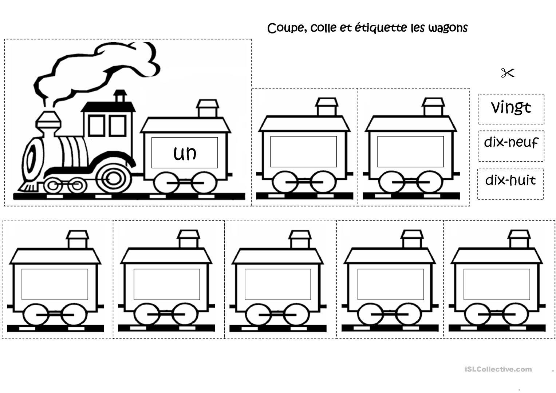 Le Train Des Chiffres - Français Fle Fiches Pedagogiques tout Etiquette Chiffre A Imprimer