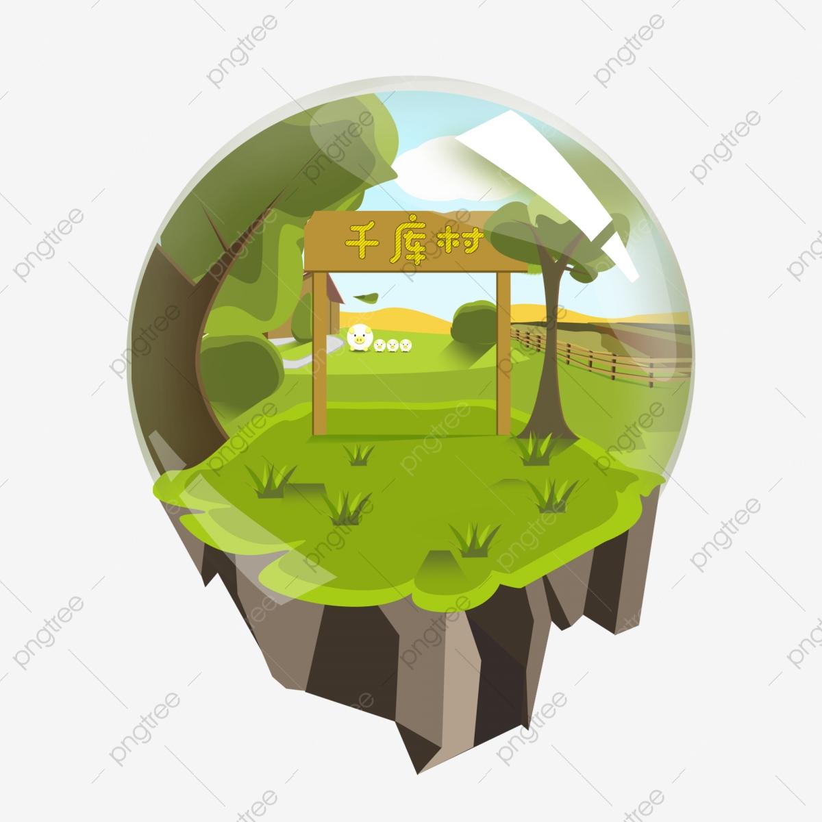 Le Village De Style Jeu Cartoon Vent Îles, Cartoon Vent tout Jeux Gratuit De Village