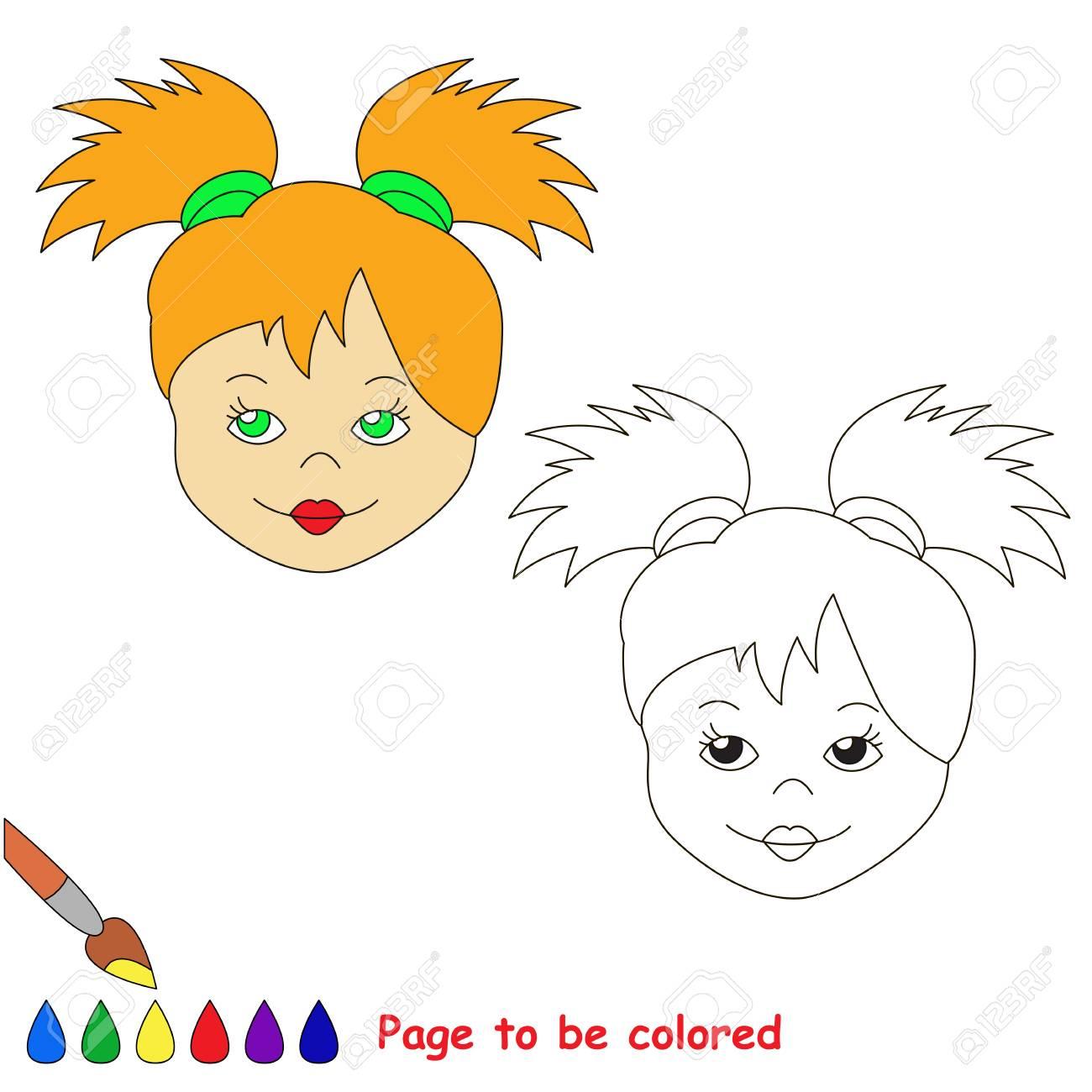Le Visage De Poupée À Colorier, Le Livre De Coloriage Pour Les Enfants  D'âge Préscolaire Avec Un Niveau De Jeu Éducatif Facile. encequiconcerne Visage À Colorier