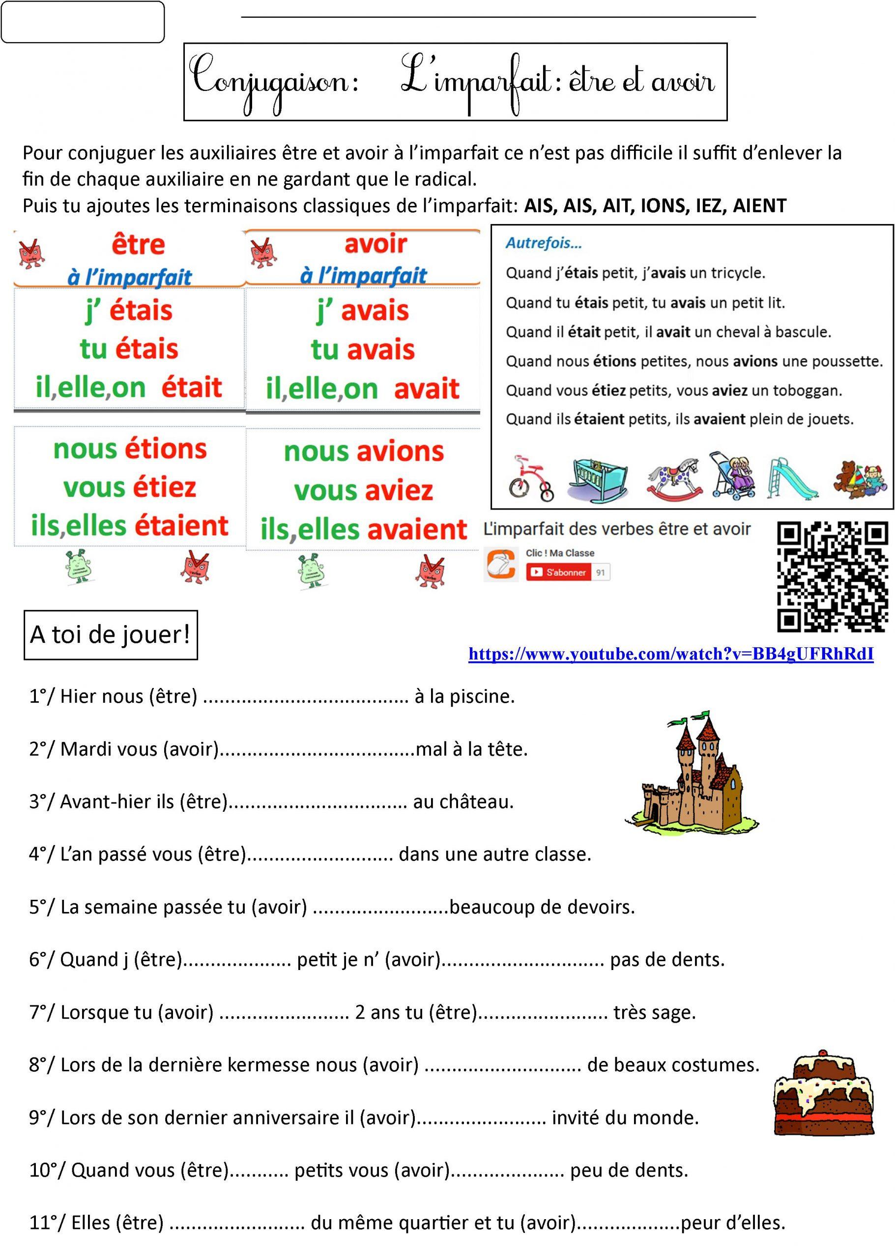 Leçon De Conjugaison | Le Blog De Monsieur Mathieu intérieur Cours Ce2 A Imprimer