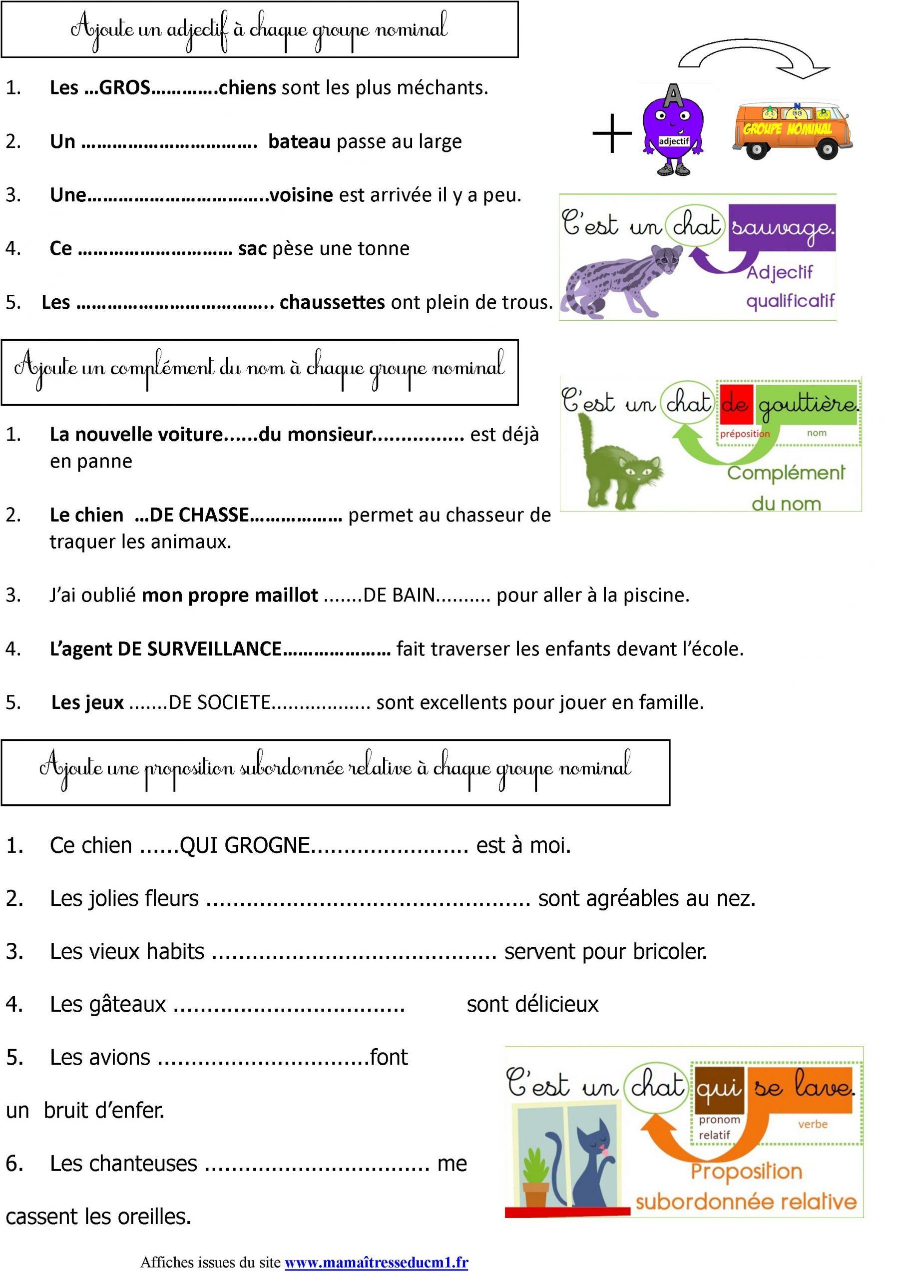 Leçon De Grammaire | Le Blog De Monsieur Mathieu concernant Cours Ce2 A Imprimer