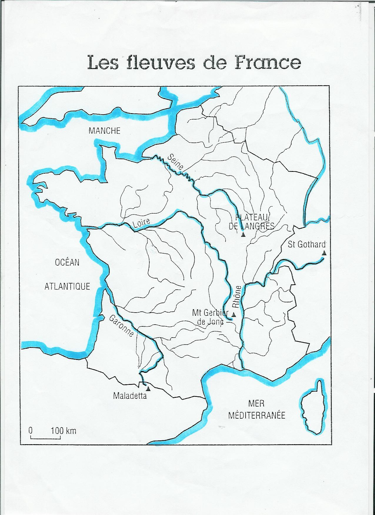Leçons De Géographie - Ecole Amandus dedans Carte Des Fleuves De France