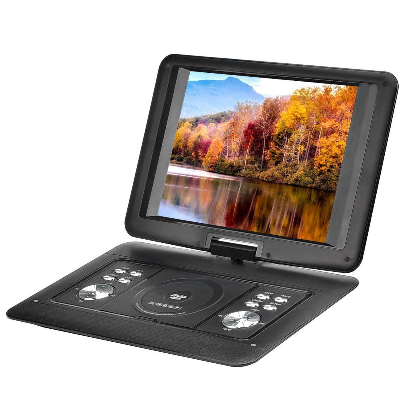 Lecteur Dvd Portable 14 Pouces Fonction Copie, Écran Rotatif encequiconcerne 90 Degrés Jeux