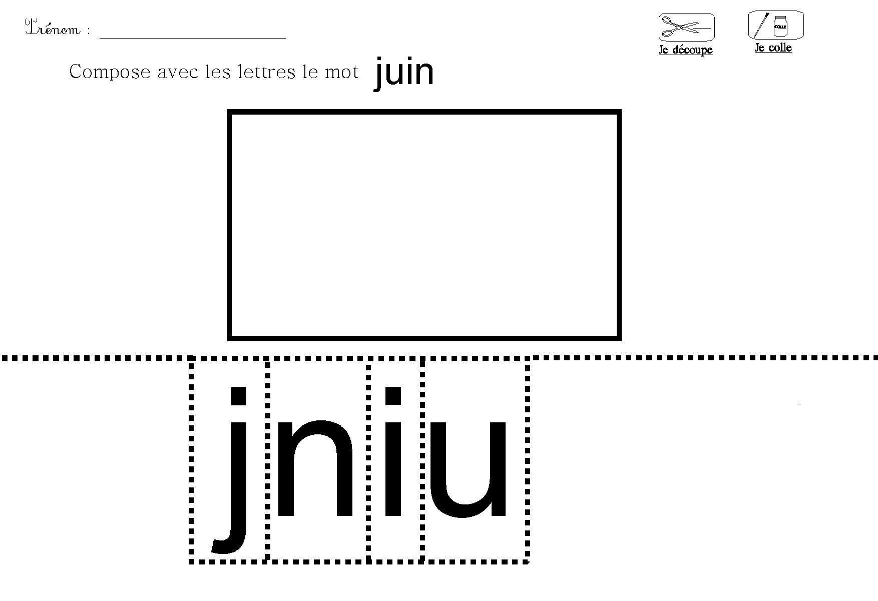 Lecture Decouper Et Coller Les Lettres Du Mois Juin Lettres dedans Point À Relier Alphabet