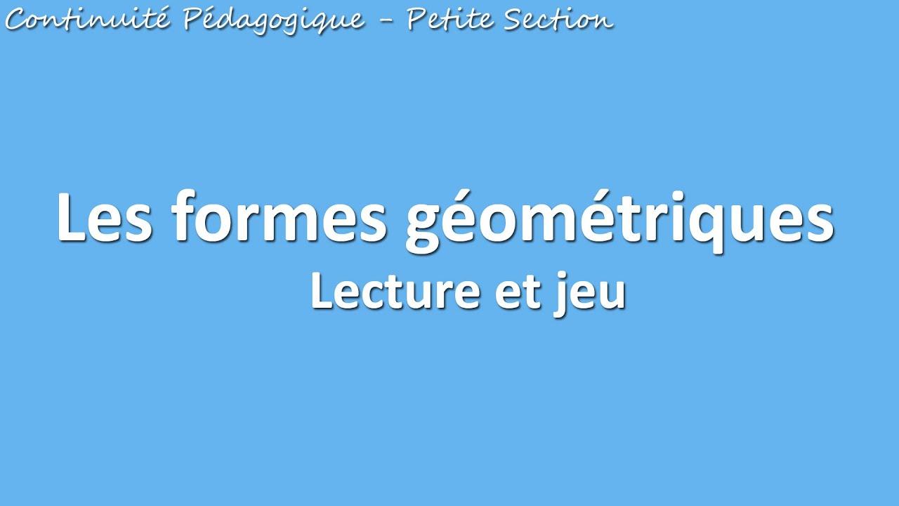 Lecture Du Livre Sur Les Formes Géométriques à Jeu De Forme Géométrique