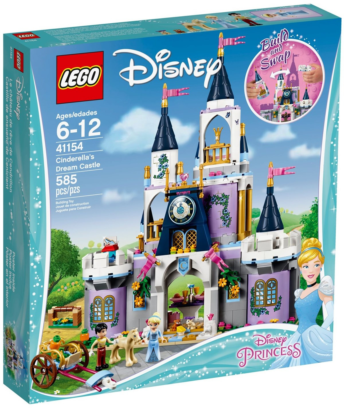 Lego 41154 Disney Cinderella's Dream Castle concernant Cendrillon 3 Disney