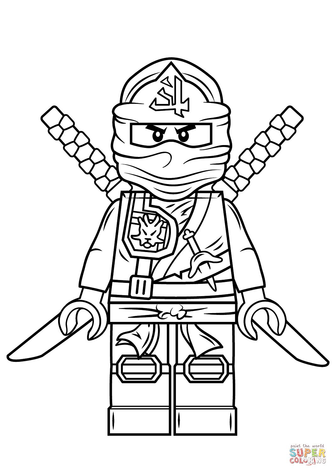 Lego Ninjago Green Ninja | Super Coloring | Birthday Party concernant Coloriage D Épée