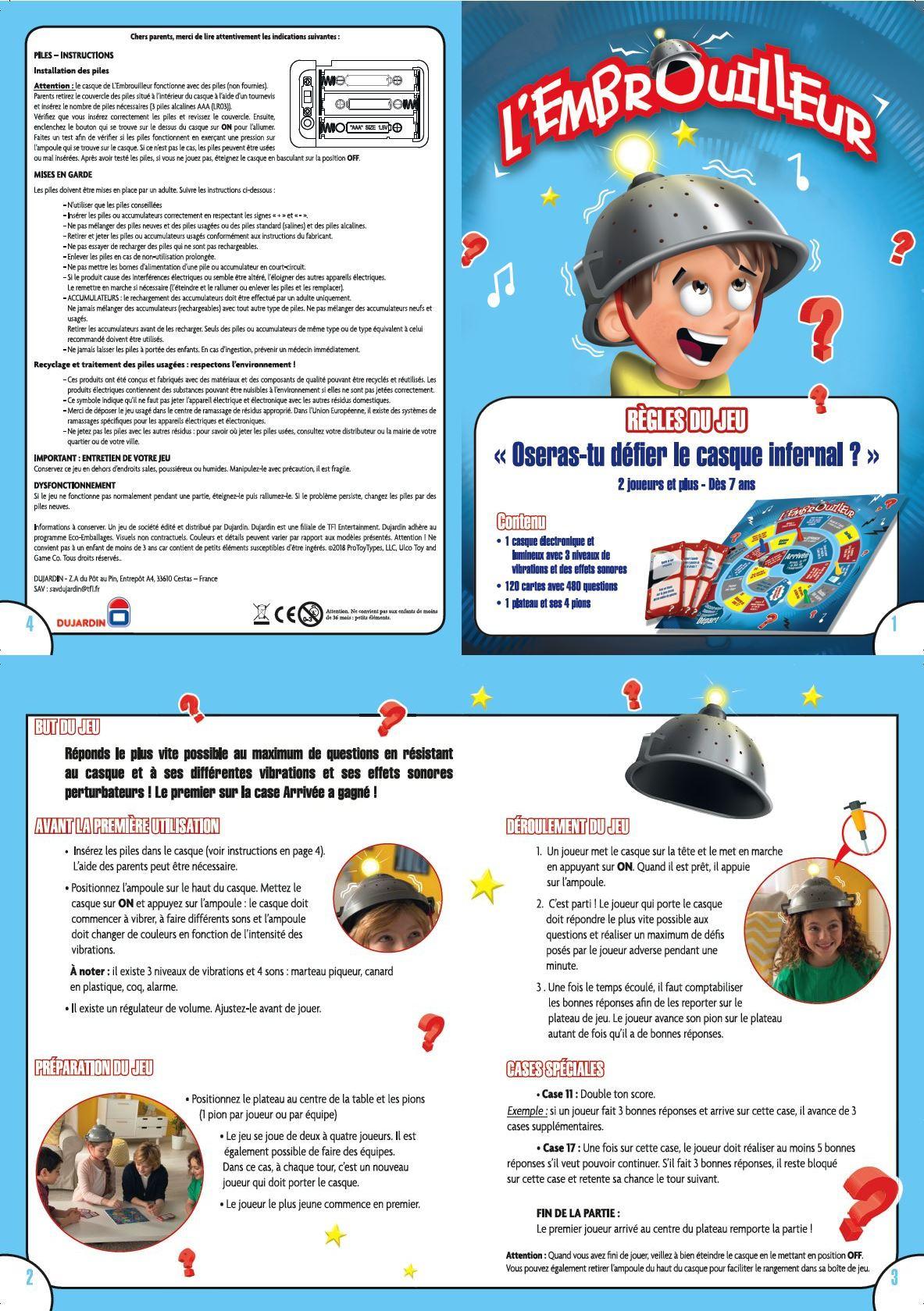 L'embrouilleur - Jeux Dujardin destiné Jeux Avec Des Questions