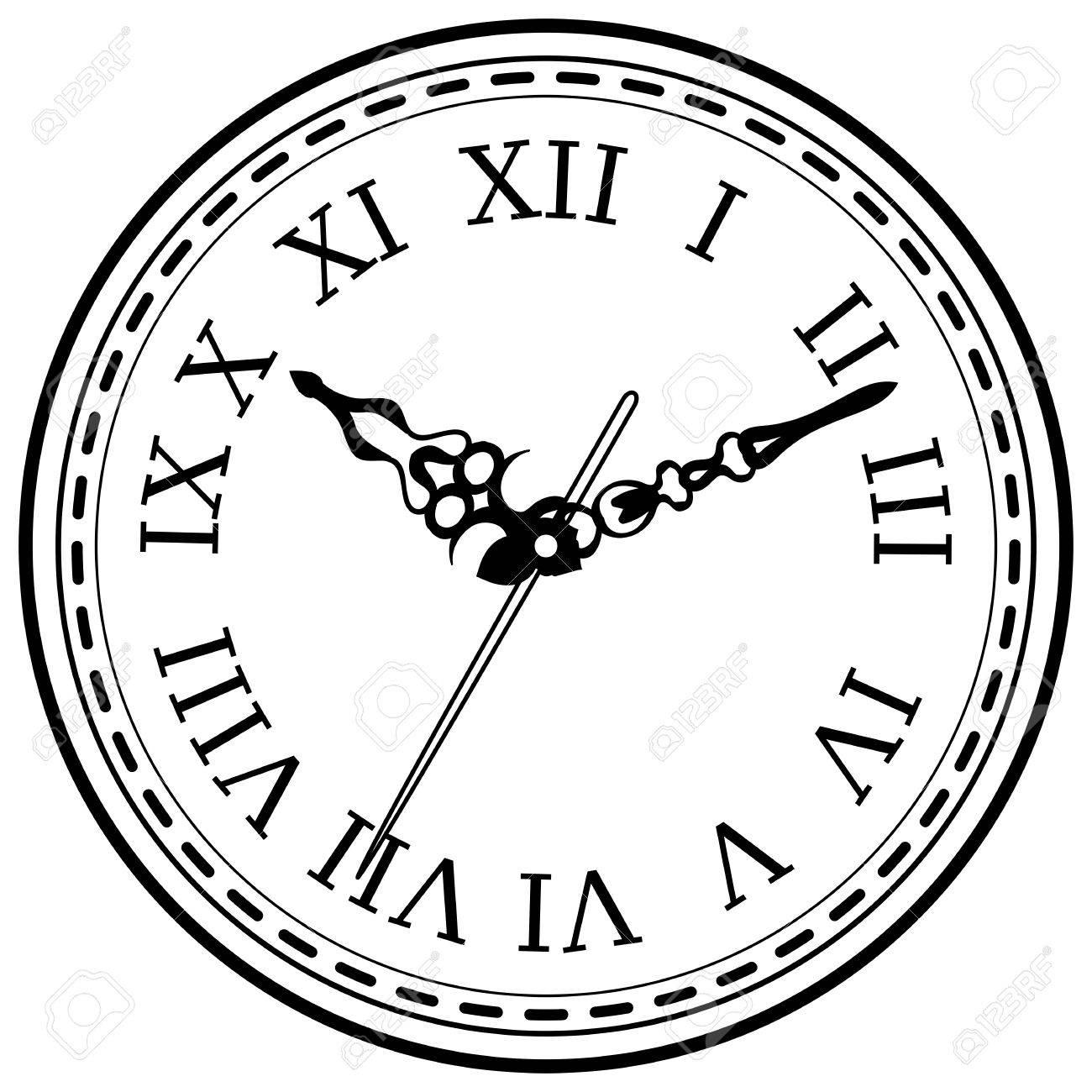 Léments De Design D'intérieur Horloge Vintage Éléments De Dessin D'encre  Dessinés À La Main Isolé Sur Fond Blanc dedans Dessin D Horloge