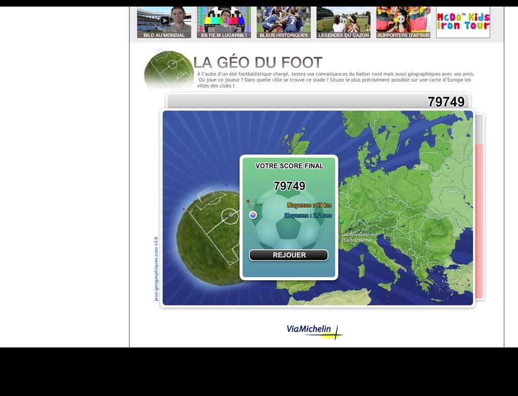 L'equipe Geofoot 65266 | On Joue Ici : .lequipemag.fr/equ intérieur Jeux Géographique