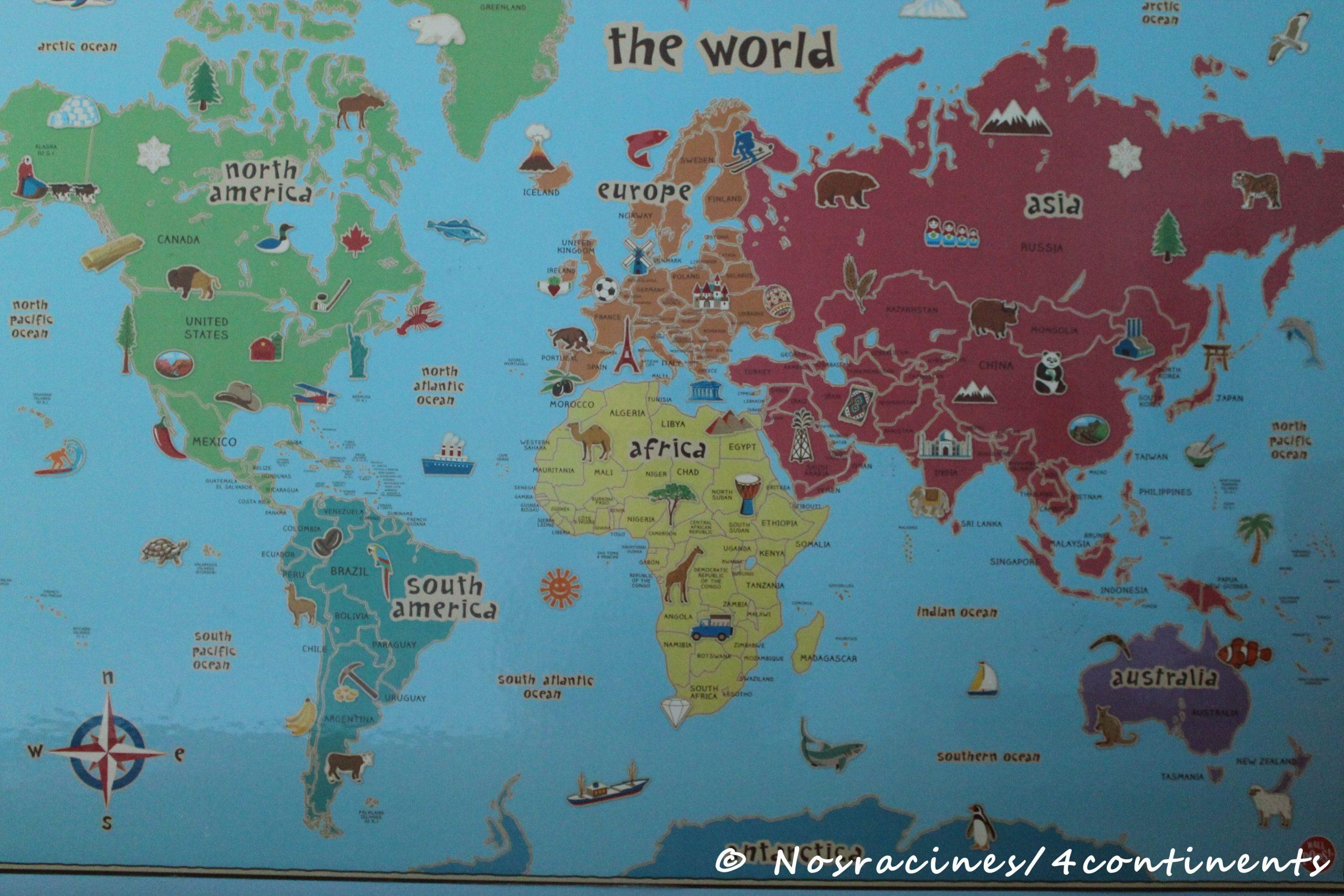 Les 10 Règles D'or D'une Maman Voyageuse – Nos Racines Sur 4 encequiconcerne Carte Du Monde Pour Enfant