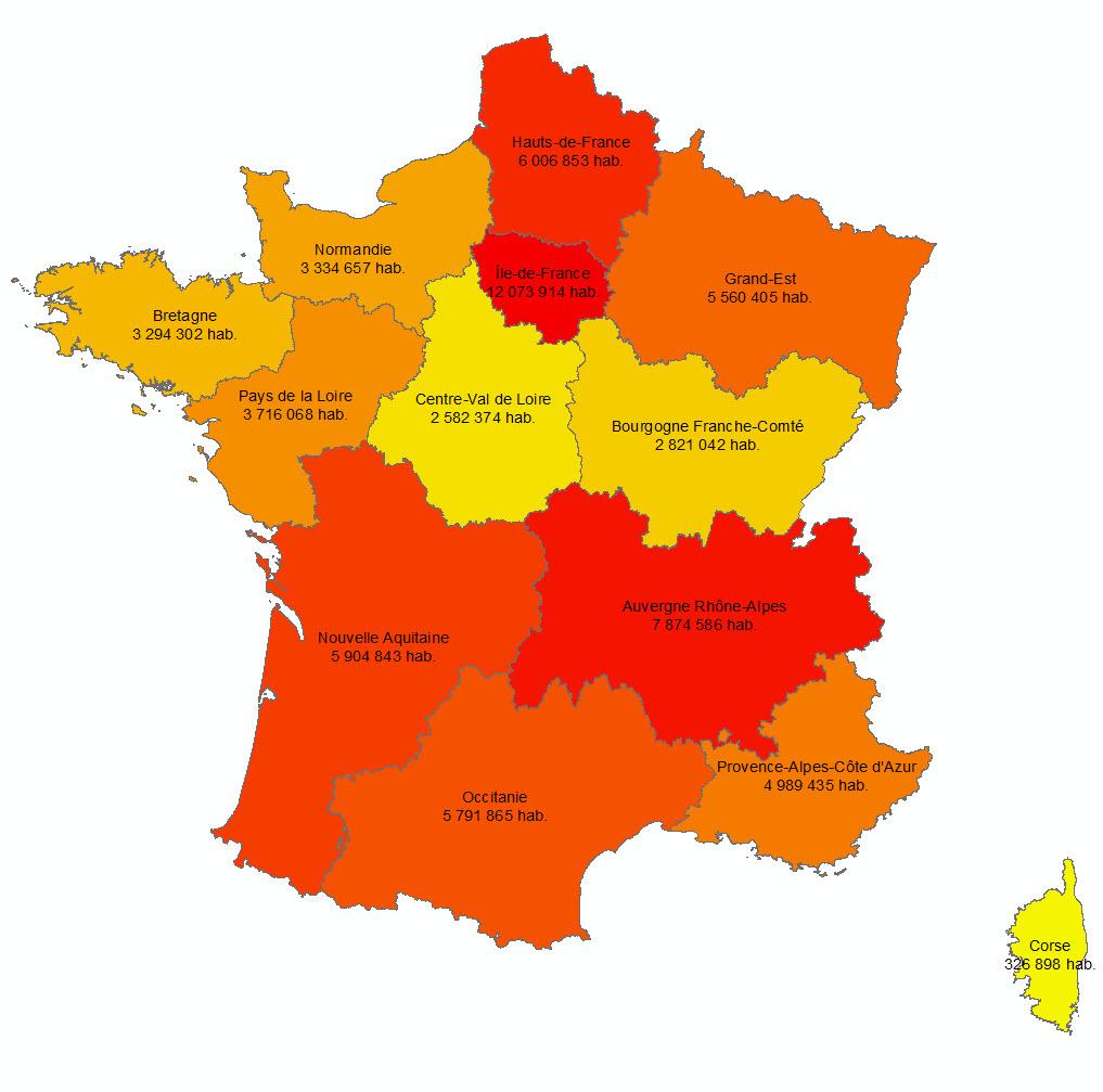 Les 13 Nouvelles Régions Françaises - Paloo Blog destiné Carte Des Nouvelles Régions Françaises