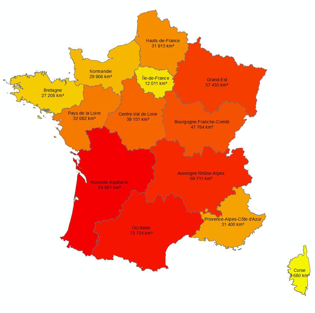 Les 13 Nouvelles Régions Françaises - Paloo Blog encequiconcerne Carte De La France Avec Les Régions