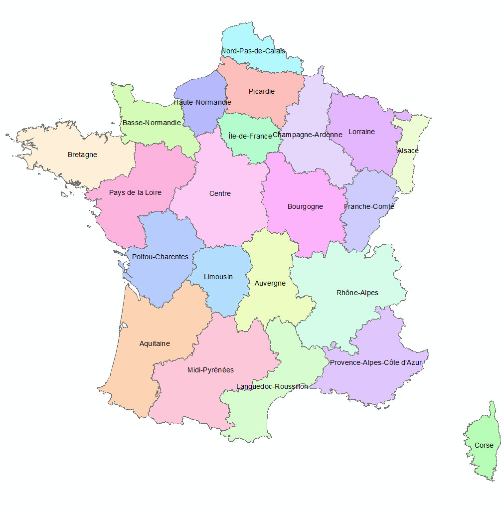 Les 13 Nouvelles Régions Françaises - Paloo Blog encequiconcerne Carte Des 13 Nouvelles Régions De France