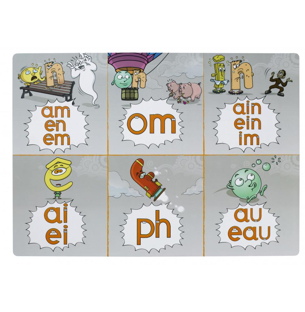 Les 2 Sous-Mains Gs Et Cp Lettres Alphas serapportantà Jeux Éducatifs En Ligne Cp