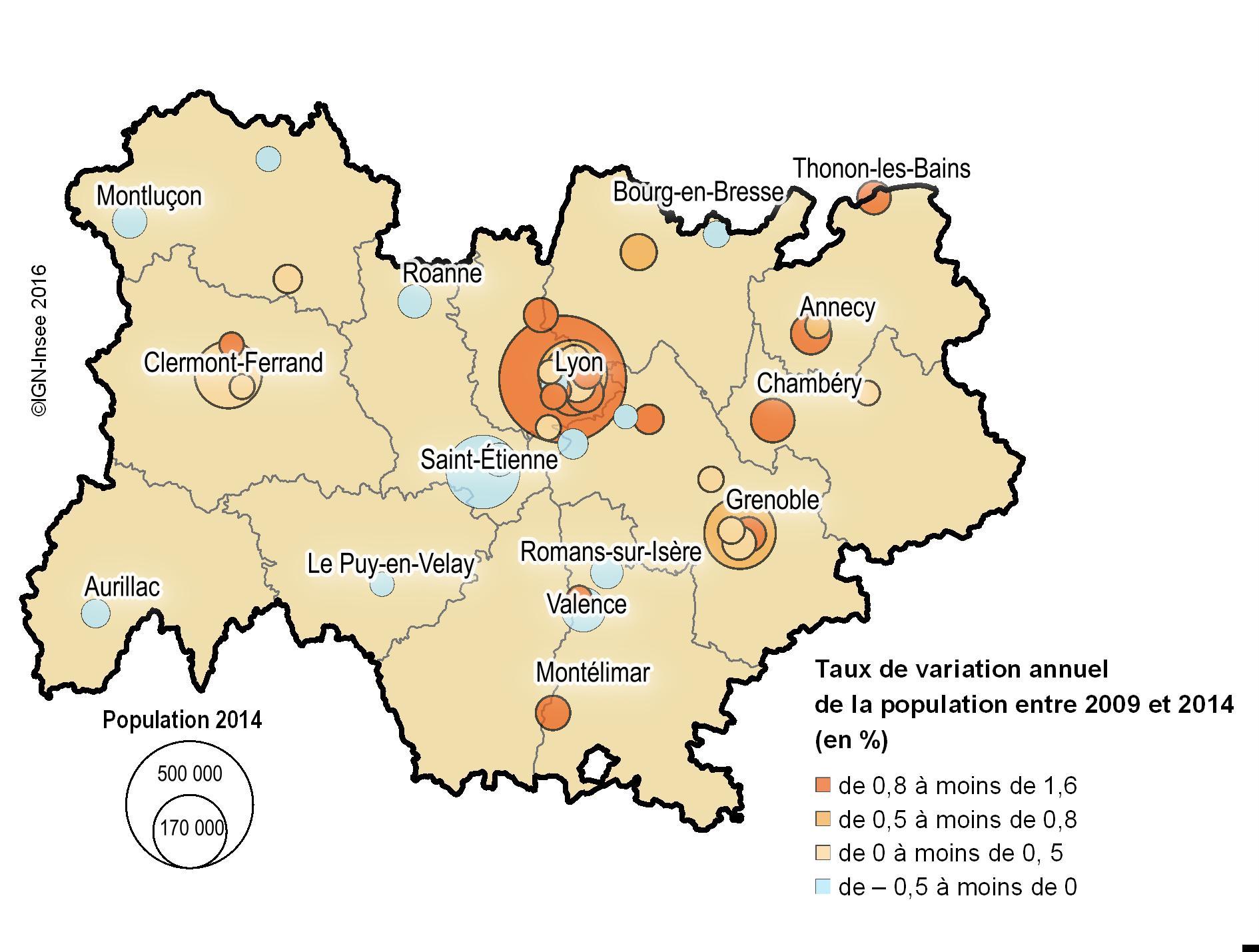Les 50 Villes Les Plus Peuplées En Auvergne-Rhône-Alpes à Carte De France Grande Ville