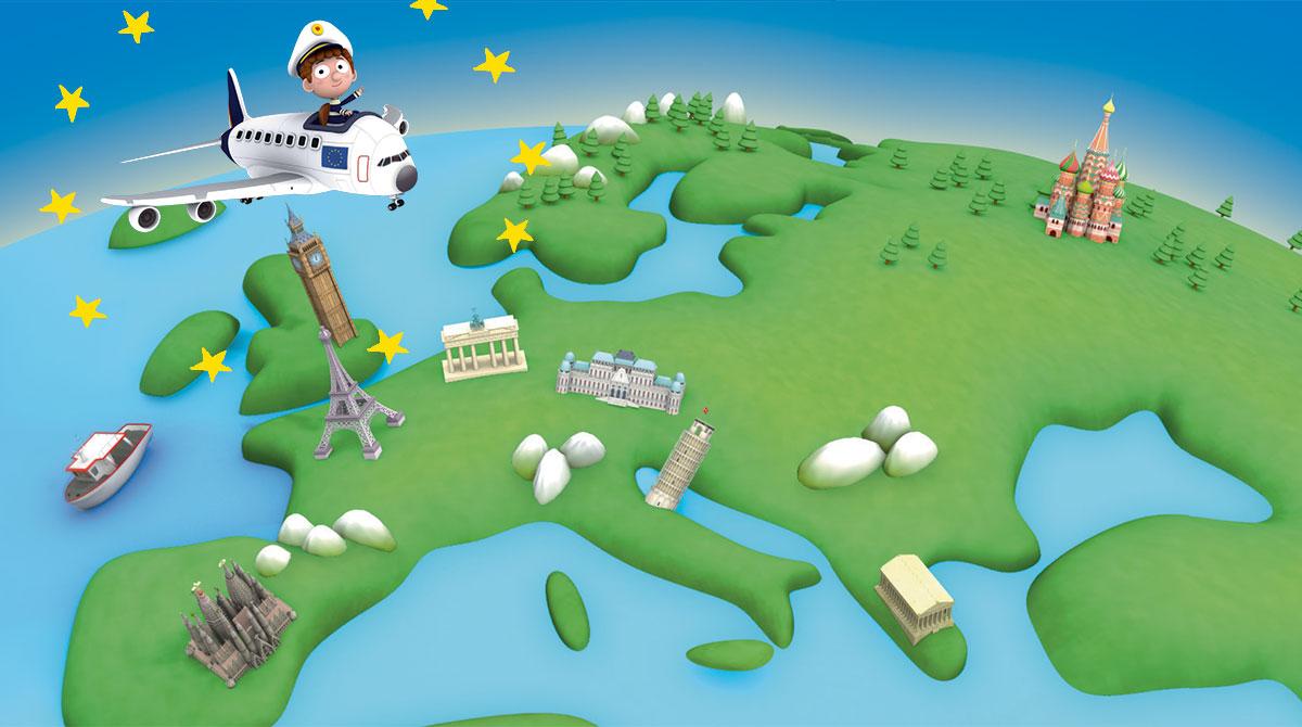 Les 8-12 Ans À La Découverte De L'Europe Avec Images Doc - Actualités  Bayard Jeunesse avec Carte Europe Enfant