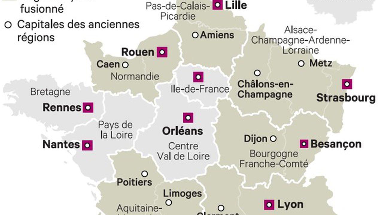 Les Anciennes Capitales De Région Regrettent Leur Statut serapportantà Anciennes Régions