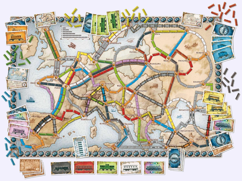 Les Aventuriers Du Rail - Europe avec Jeux Geographique