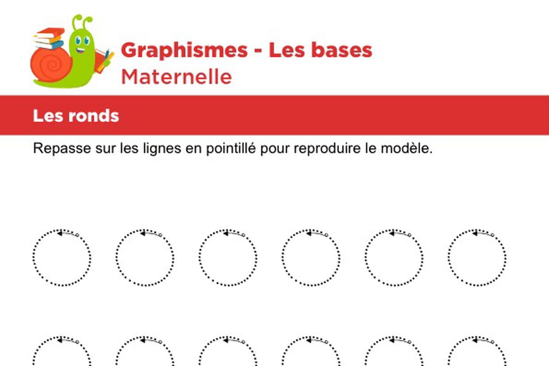 Les Bases Du Graphisme, Les Ronds encequiconcerne Graphisme Maternelle A Imprimer Gratuit